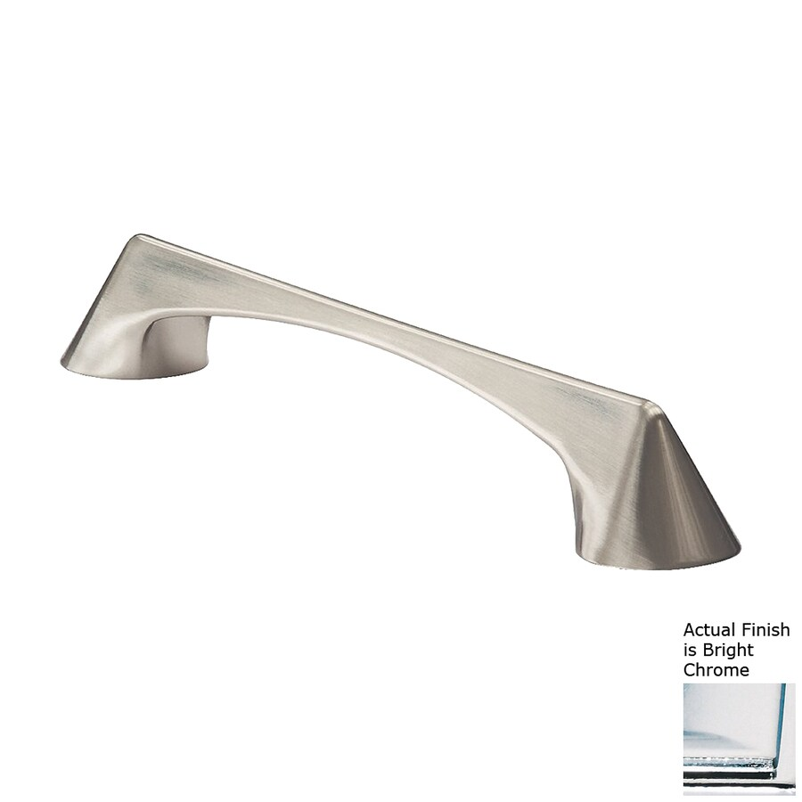 Siro Designs 160Mm Center-To-Center Bright Chrome Italian Line Bar Cabinet Pull
