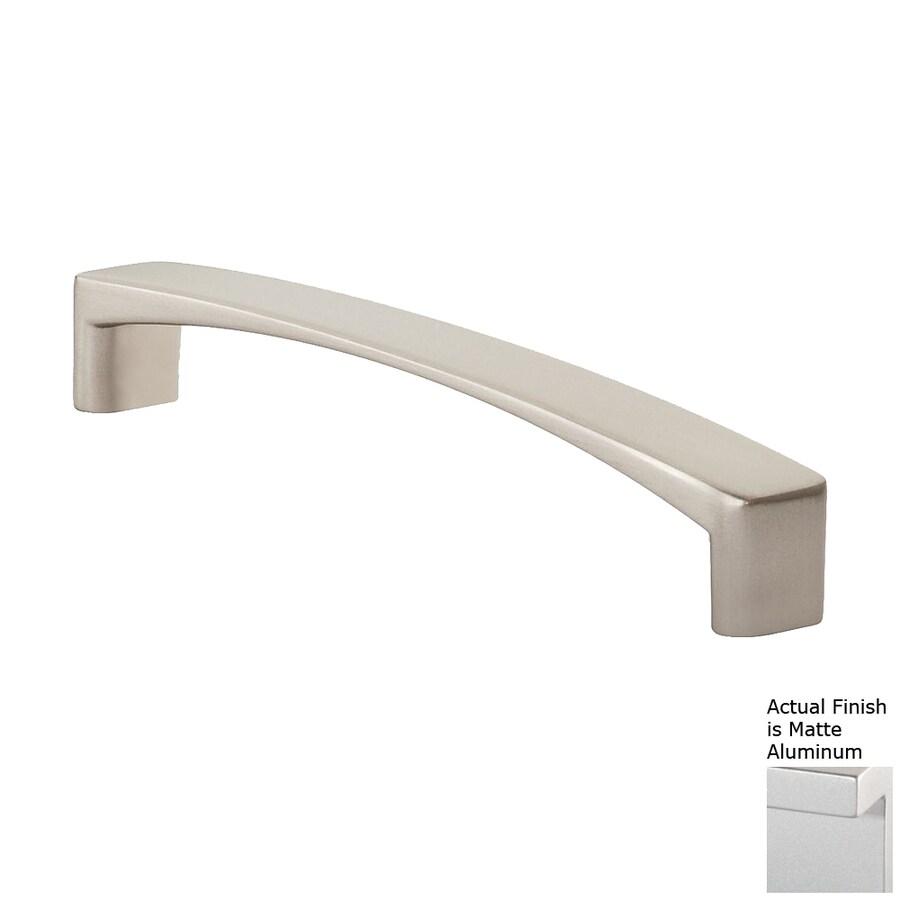 Siro Designs 5-in Center-To-Center Matte Aluminum Italian Line Rectangular Cabinet Pull