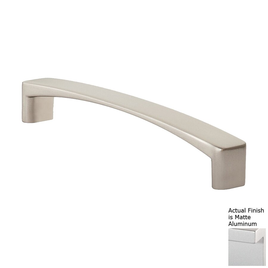 Siro Designs 224Mm Center-To-Center Matte Aluminum Italian Line Rectangular Cabinet Pull