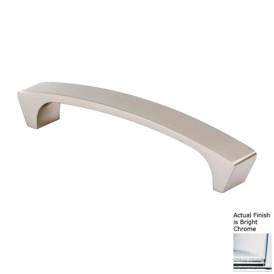 Siro Designs 5-in Center-To-Center Bright Chrome Italian Line Rectangular Cabinet Pull