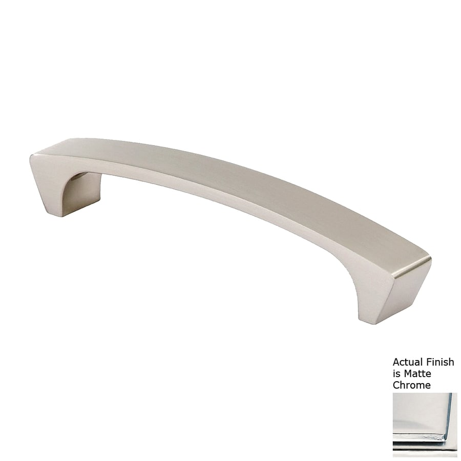 Siro Designs 5-in Center-To-Center Matte Chrome Italian Line Rectangular Cabinet Pull