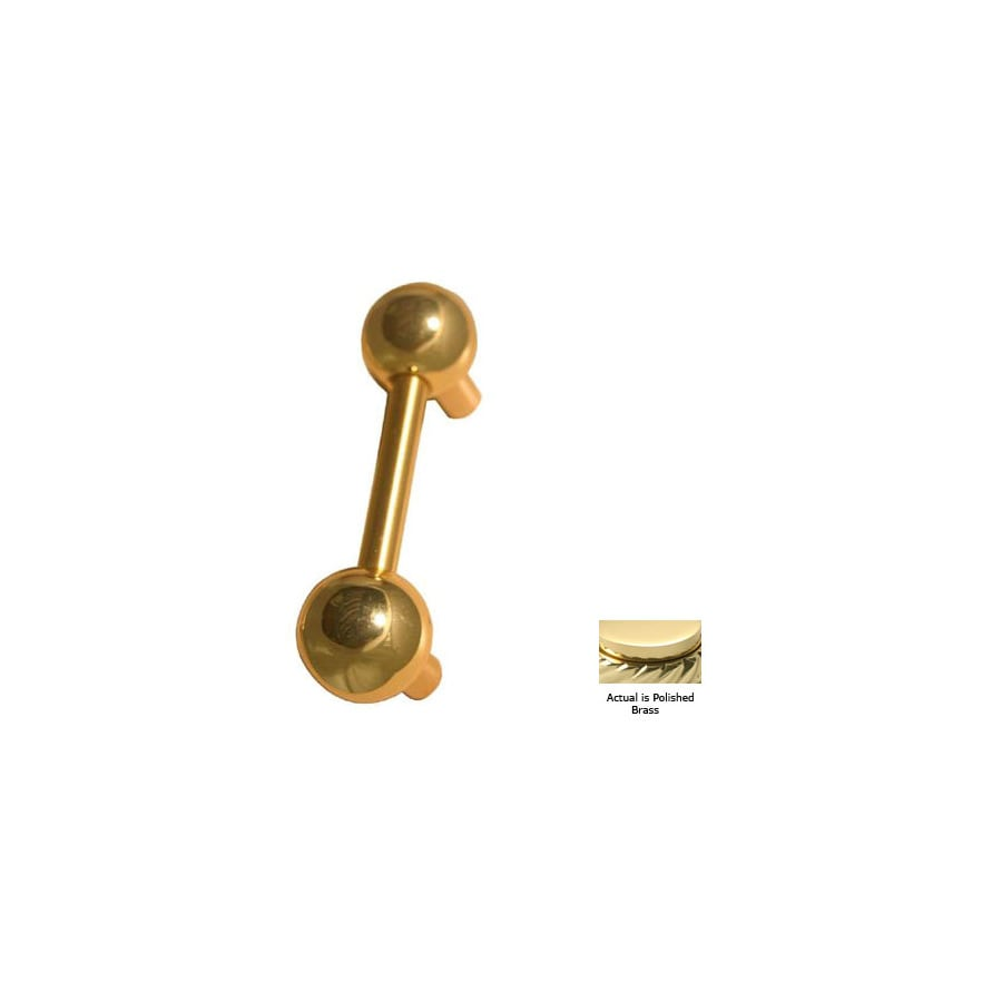 Allied Brass 3-in Center-To-Center Polished Brass Bar Cabinet Pull