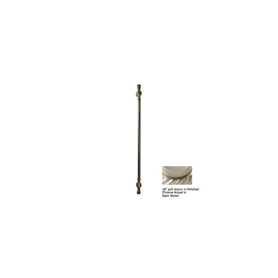 Allied Brass 8-in Center-to-Center Satin Nickel Retro-Wave Bar Cabinet Pull