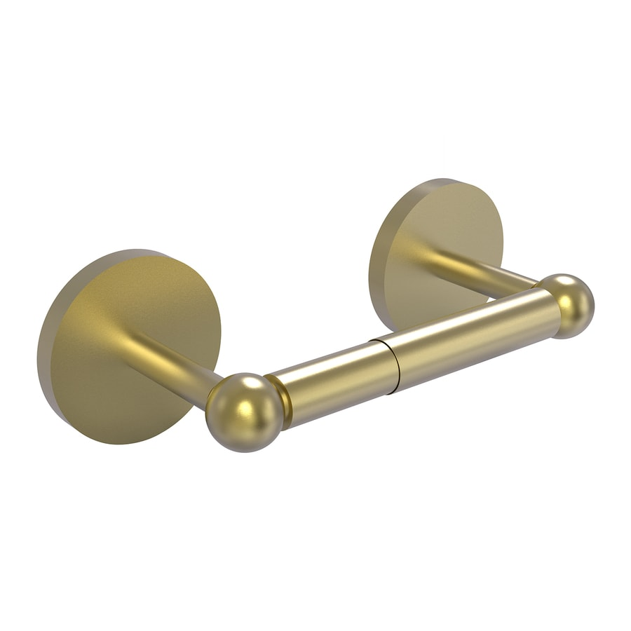 Allied Brass Skyline Satin Brass Surface Mount Spring-Loaded Toilet Paper Holder