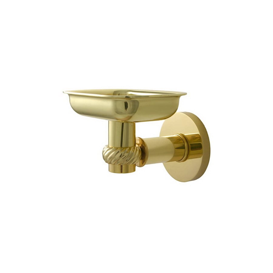 Allied Brass Continental Polished Brass Brass Soap Dish
