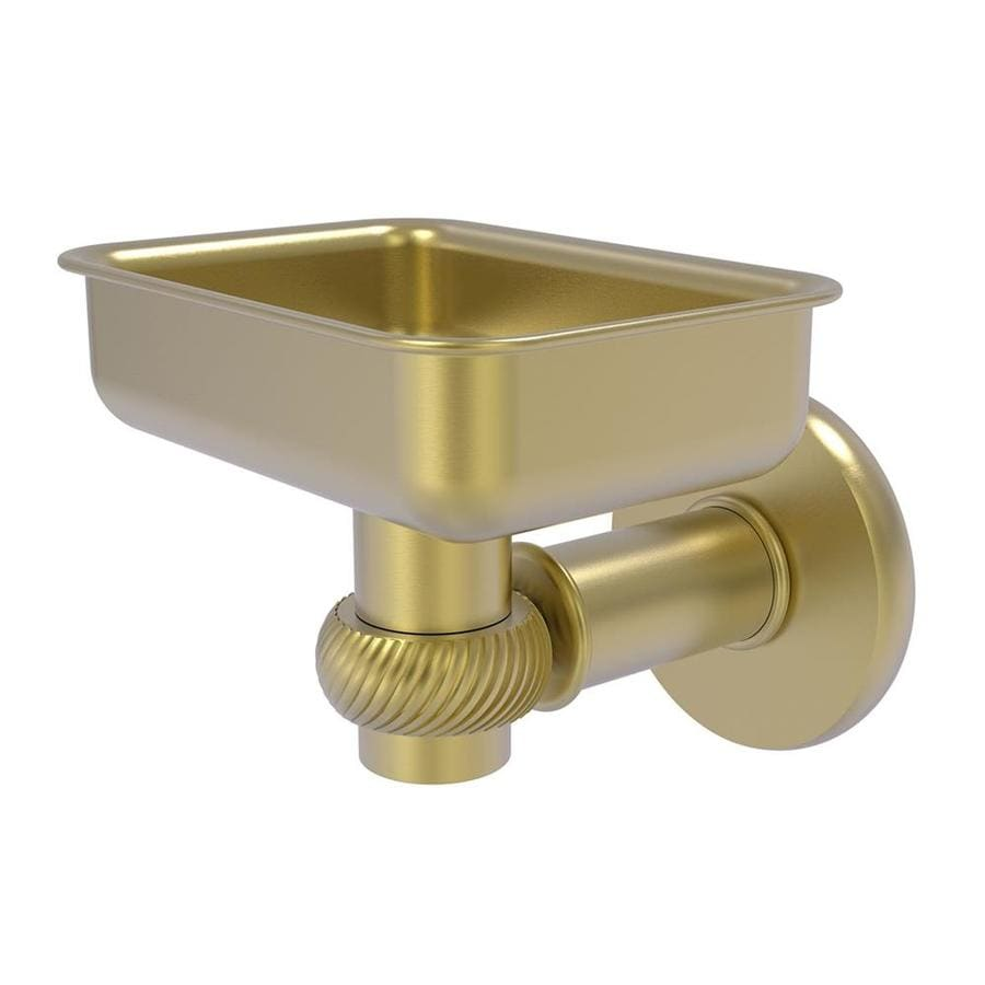 Allied Brass Continental Satin Brass Soap Dish