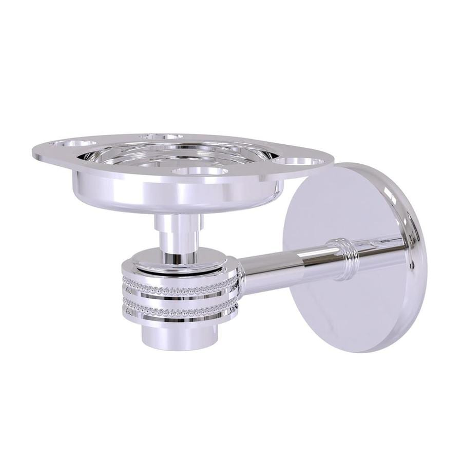 Allied Brass Satellite Orbit One Polished Chrome Brass Toothbrush Holder