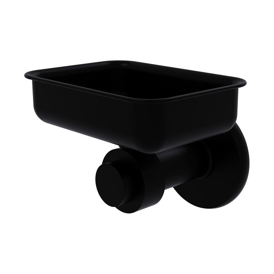 Allied Brass Mercury Matte Black Brass Soap Dish