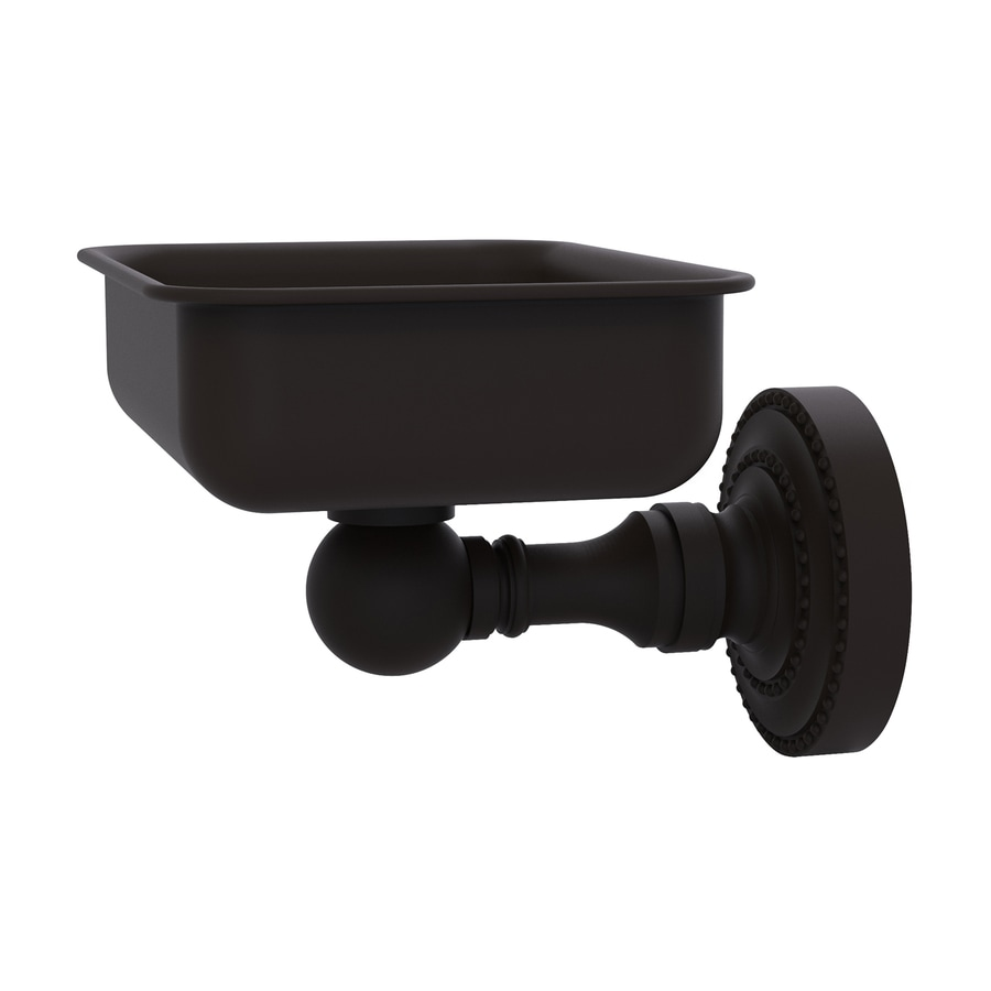 Allied Brass Dottingham Oil-Rubbed Bronze Brass Soap Dish