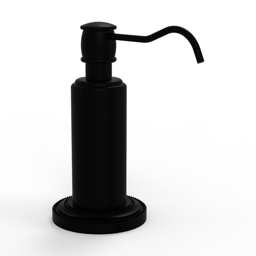 Allied Brass Dottingham Matte Black Soap and Lotion Dispenser