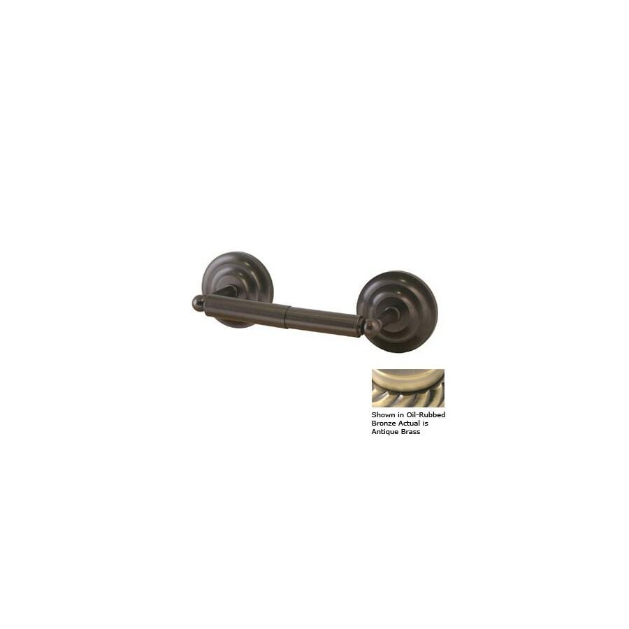 Allied Brass Que-New Antique Brass Surface Mount Toilet Paper Holder