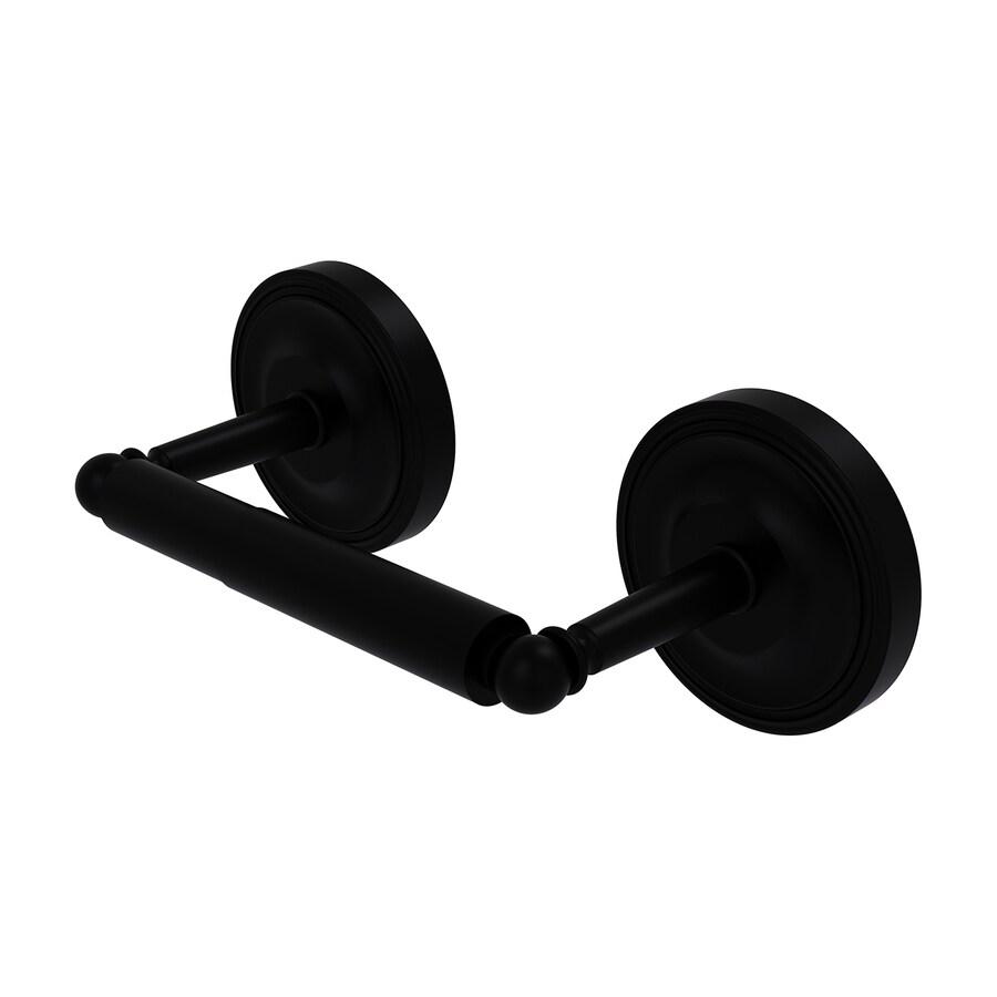 Allied Brass Regal Matte Black Surface Mount Spring-Loaded Toilet Paper Holder