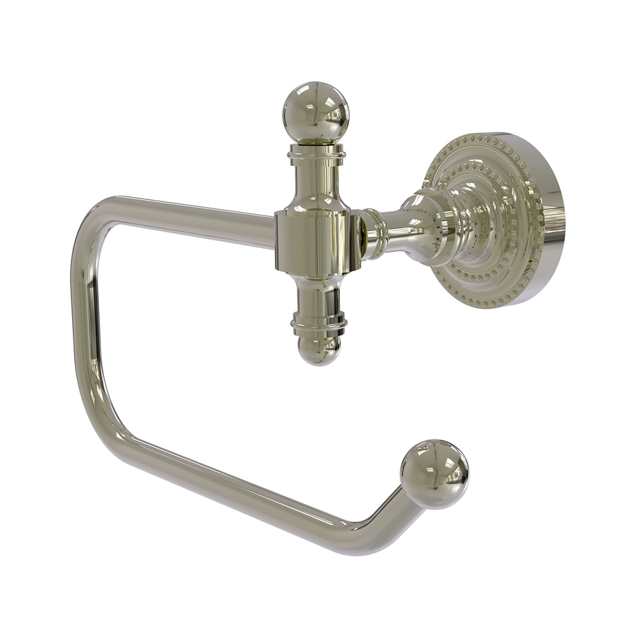 Allied Brass Retro-Dot Polished Nickel Surface Mount Toilet Paper Holder