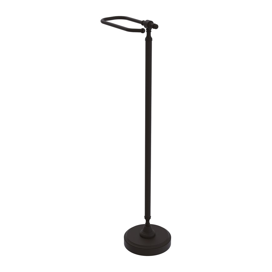Allied Brass Retro-Dot Oil-Rubbed Bronze Freestanding Floor Toilet Paper Holder