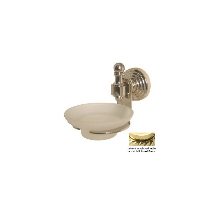 Allied Brass Retro Wave Polished Brass Soap Dish