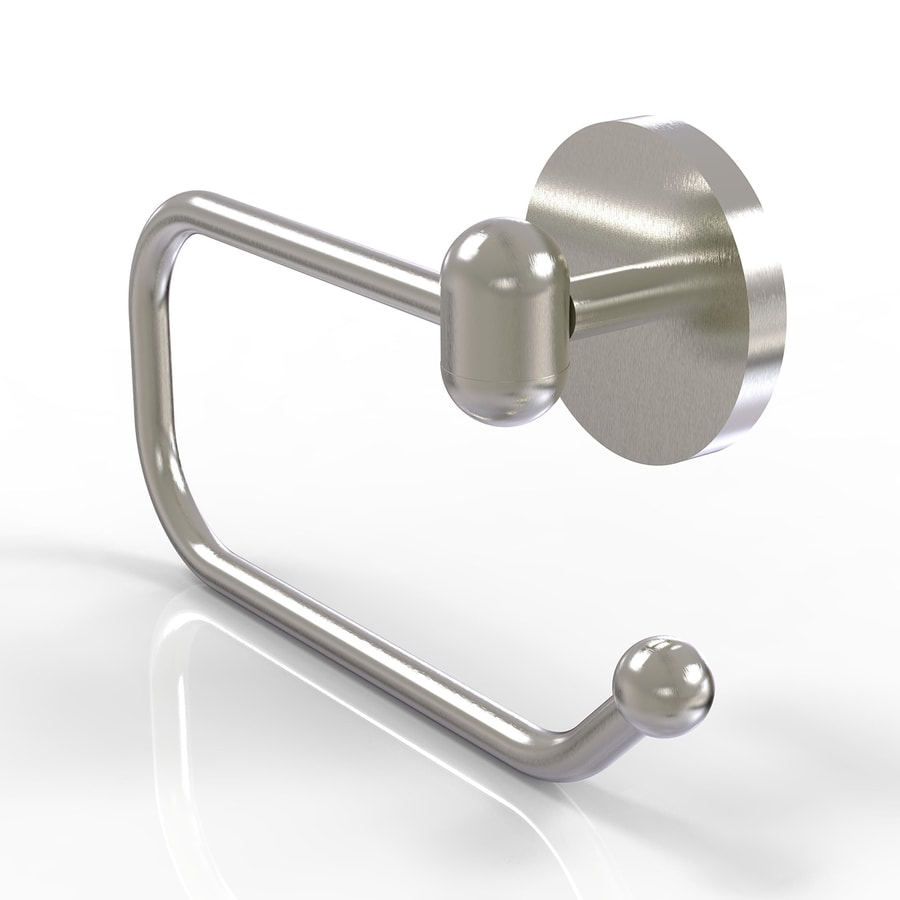 Allied Brass Tango Satin Nickel Surface Mount Single Post Toilet Paper Holder
