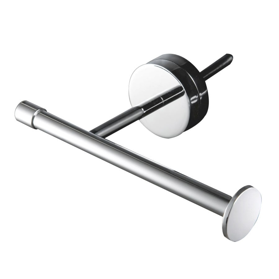 WS Bath Collections Duemila Polished Chrome Surface Mount Toilet Paper Holder