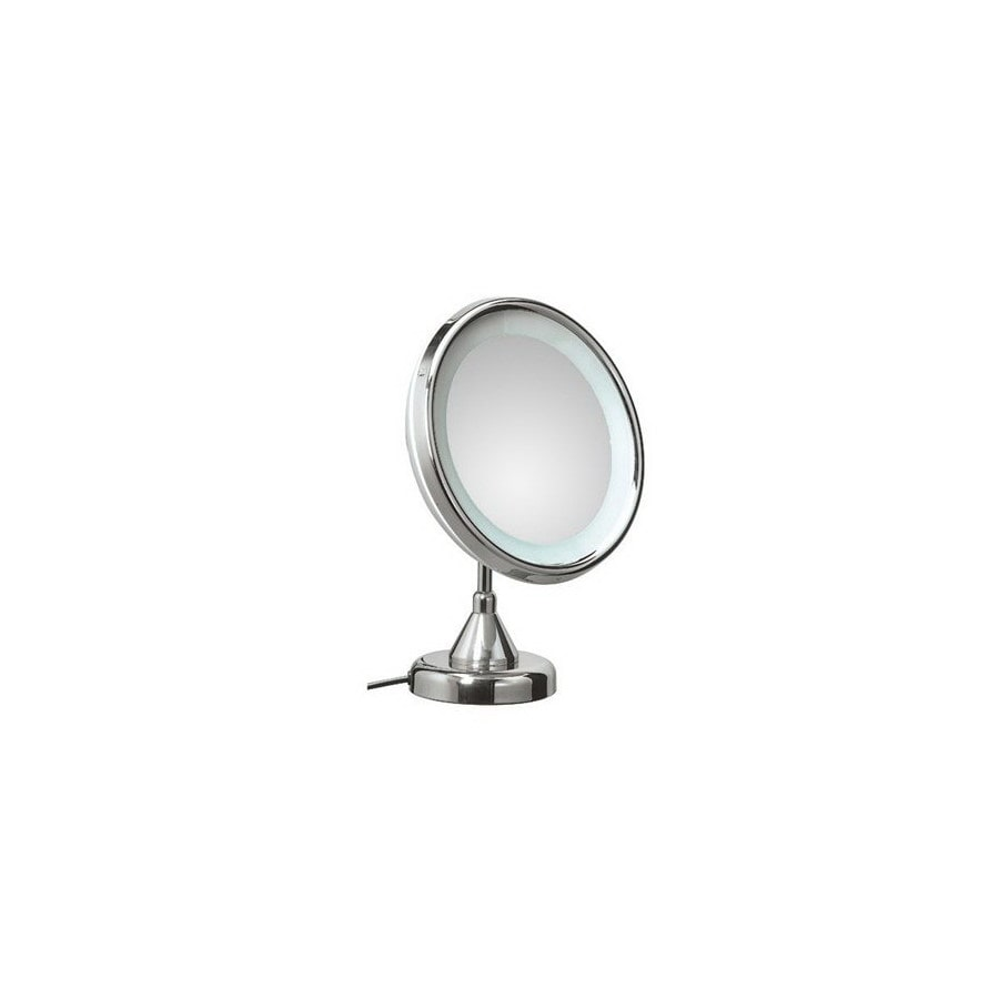 Lighted Vanity Mirror Chrome : Shop WS Bath Collections Mirror Pure III Chrome Chrome Magnifying Countertop Vanity Mirror with ...