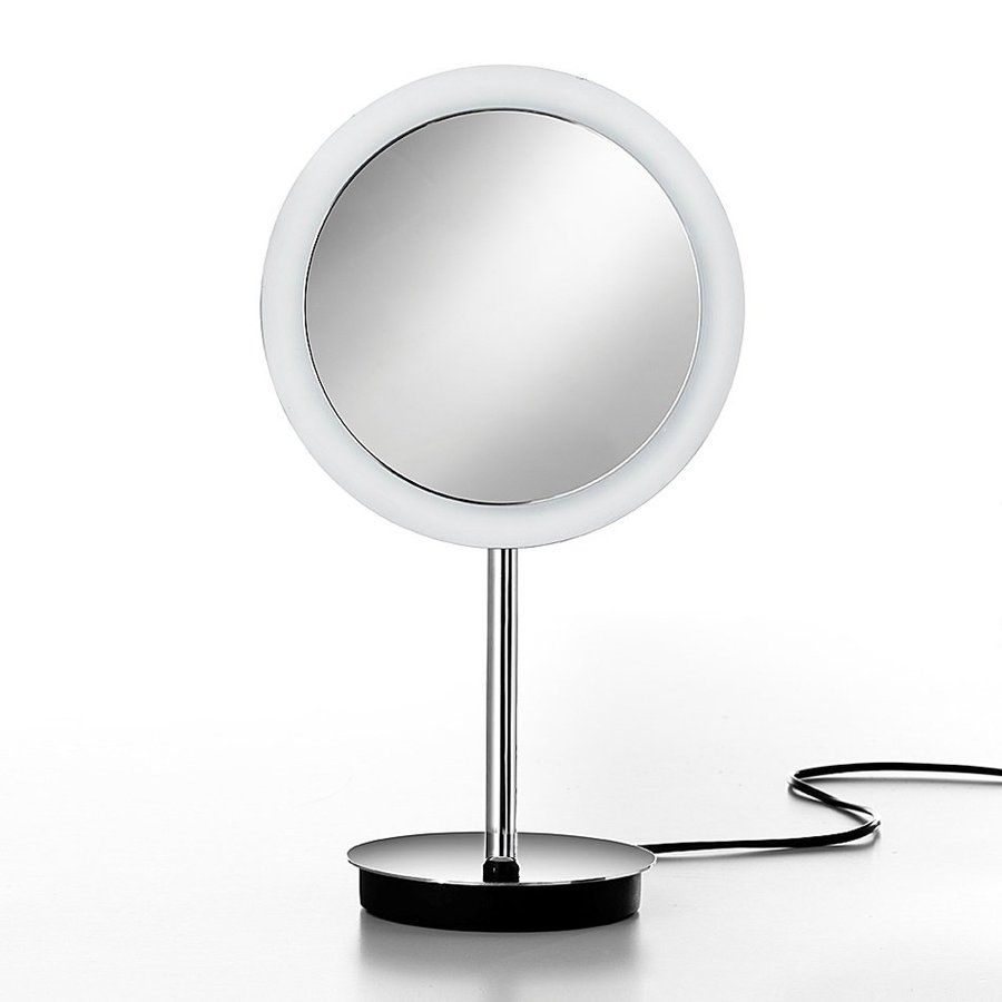 Shop WS Bath Collections Mirror Pure Chrome Magnifying Countertop Vanity Mirror with Light at ...