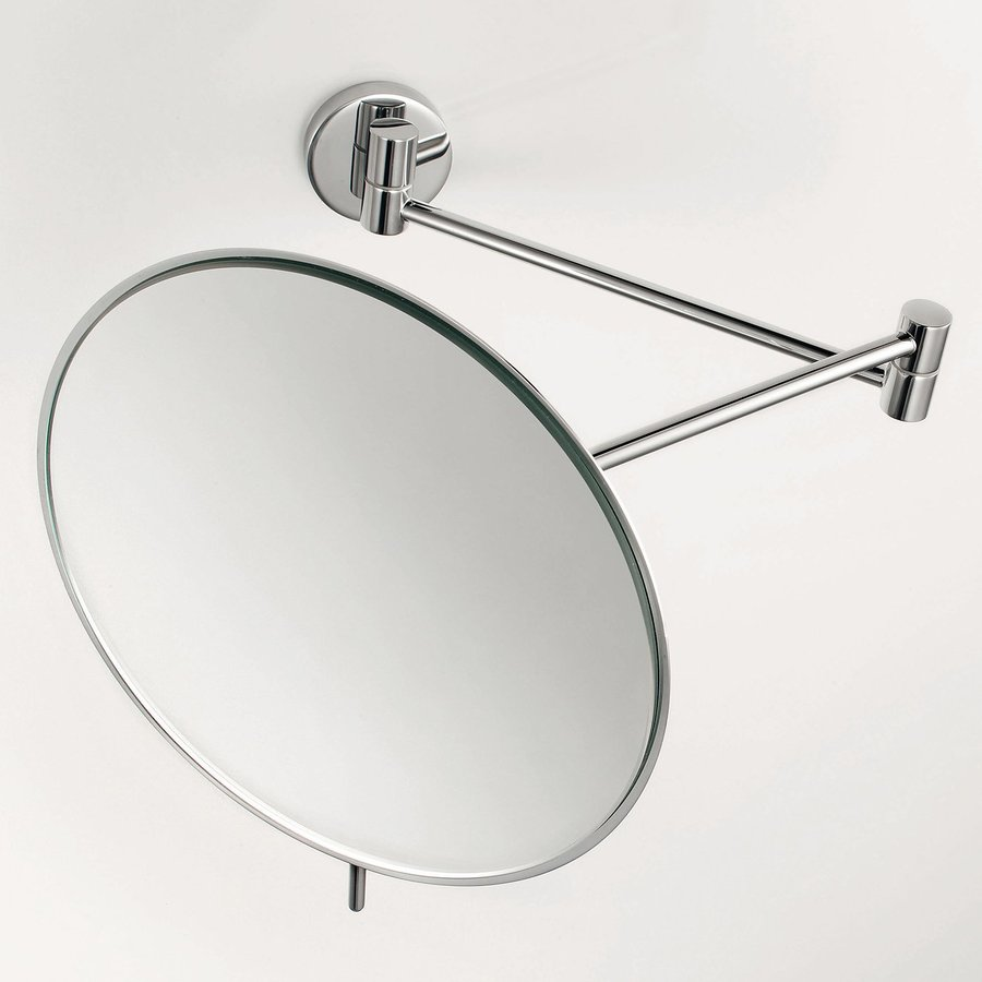 wall mounted bathroom mirrors magnifying shop ws bath collections mirror chrome magnifying 24540