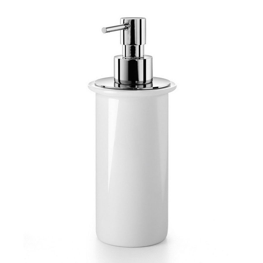 WS Bath Collections White Porcelain Soap and Lotion Dispenser