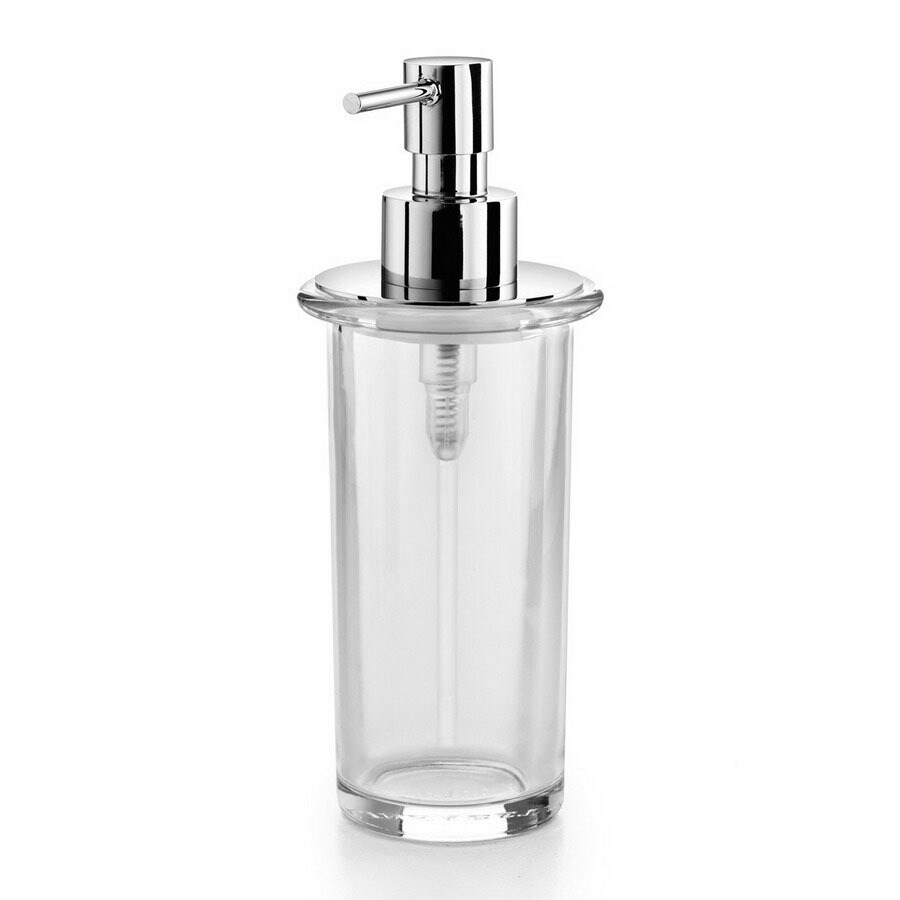 WS Bath Collections Clear Glass Soap and Lotion Dispenser