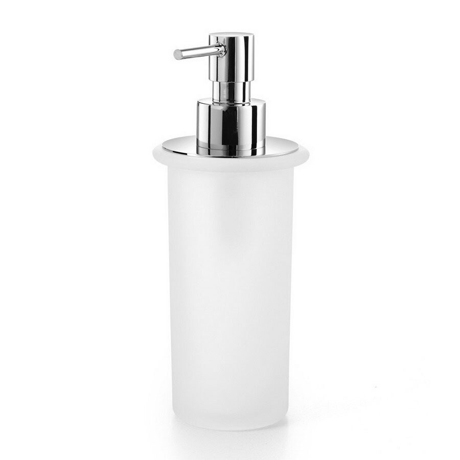 WS Bath Collections Frosted Glass Soap and Lotion Dispenser