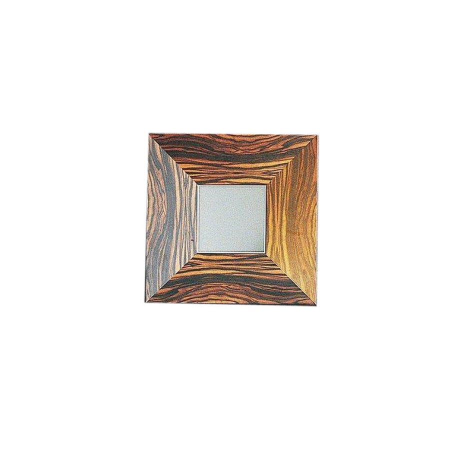 WS Bath Collections 19-3/4-in H x 19-3/4-in W Concert Wenge Wood Square Bath Mirror