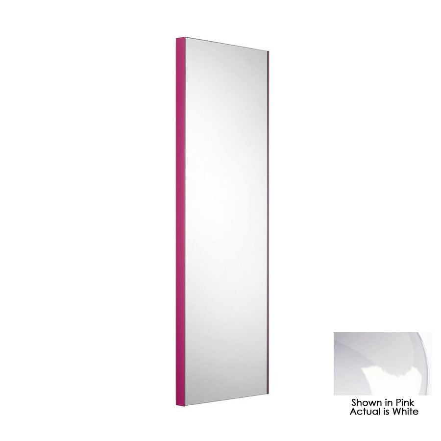 WS Bath Collections 39-3/8-in H x 12-7/8-in W Linea White Rectangular Bath Mirror