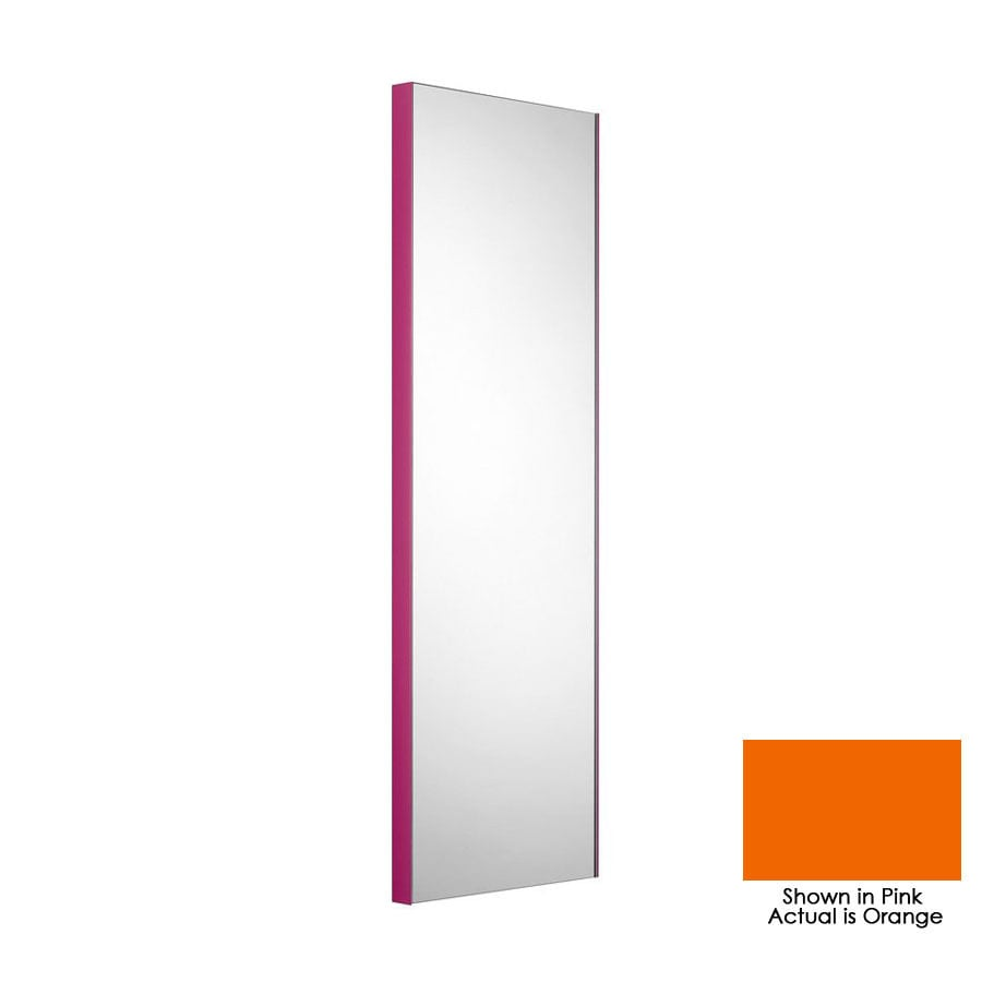 WS Bath Collections 39-3/8-in H x 12-7/8-in W Linea Orange Rectangular Bath Mirror
