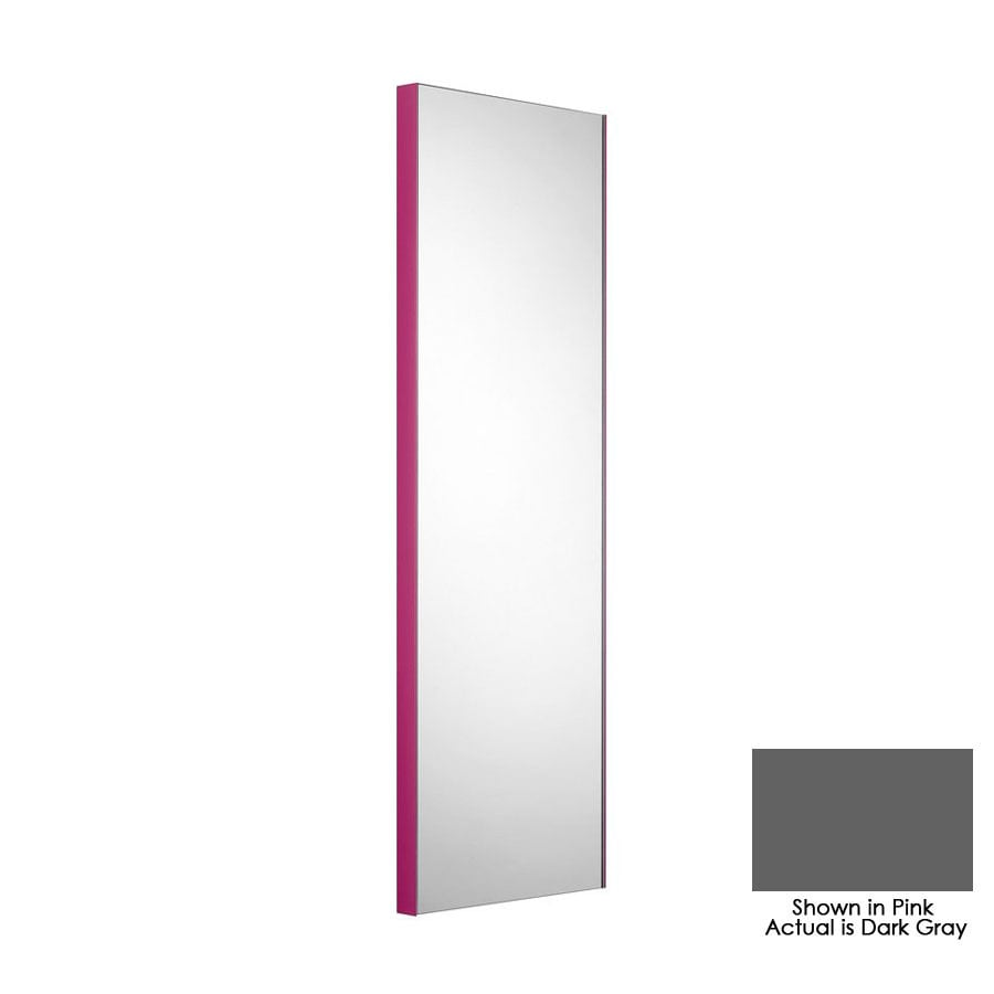 WS Bath Collections 39-3/8-in H x 12-7/8-in W Linea Dark Gray Rectangular Bath Mirror