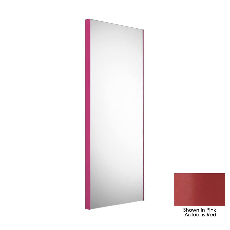 WS Bath Collections 39-3/8-in H x 17-1/2-in W Linea Red Rectangular Bath Mirror