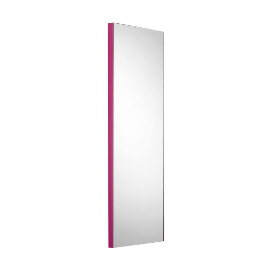 WS Bath Collections 39-3/8-in H x 17-1/2-in W Linea Pink Rectangular Bath Mirror