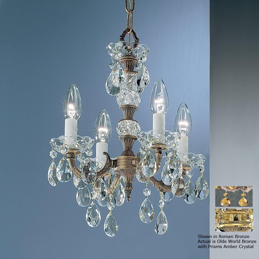 Classic Lighting 4 Light Madrid Olde World Bronze Crystal Accent Chandelier In The Chandeliers Department At Lowes Com