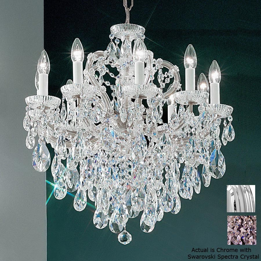 Shop Classic Lighting Maria Theresa Light Chrome Crystal - Chandelier crystals lowes