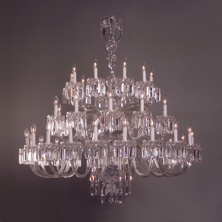 stunning Lowes Accent Lighting Part - 8: Classic Lighting 40-Light Buckingham Chrome Crystal Accent Chandelier