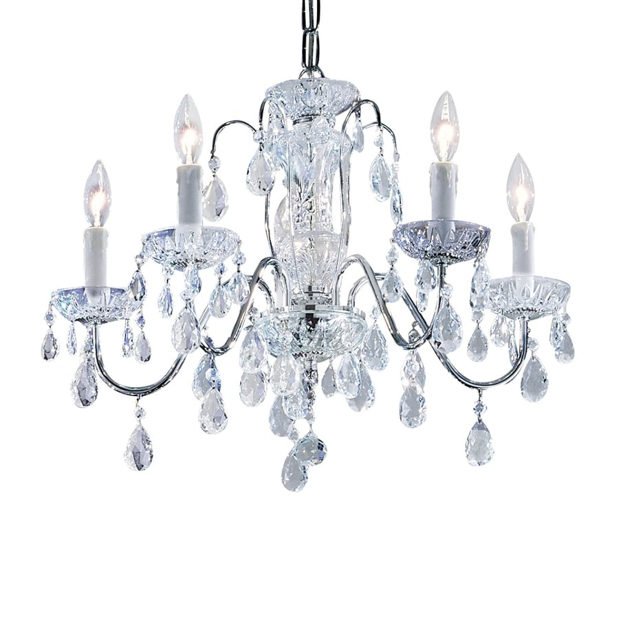 Shop classic lighting daniele 22 in 5 light chrome crystal Crystal candle chandelier