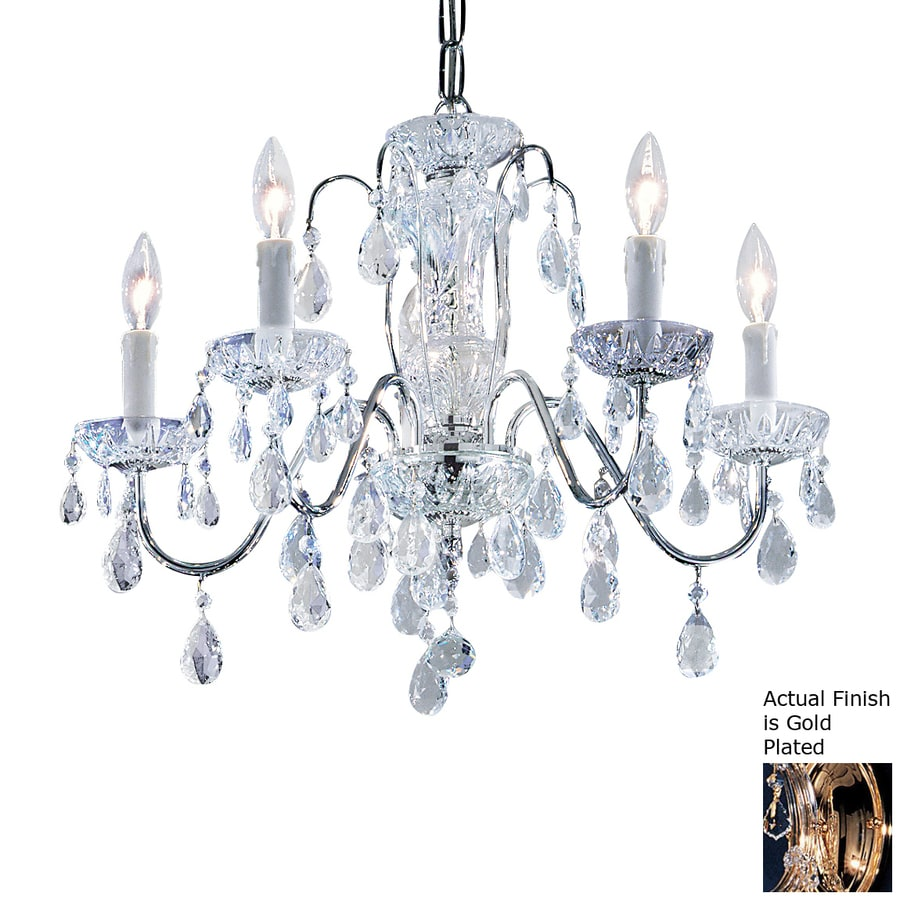 Classic Lighting Daniele 22-in 5-Light Gold Plated Crystal Candle Chandelier
