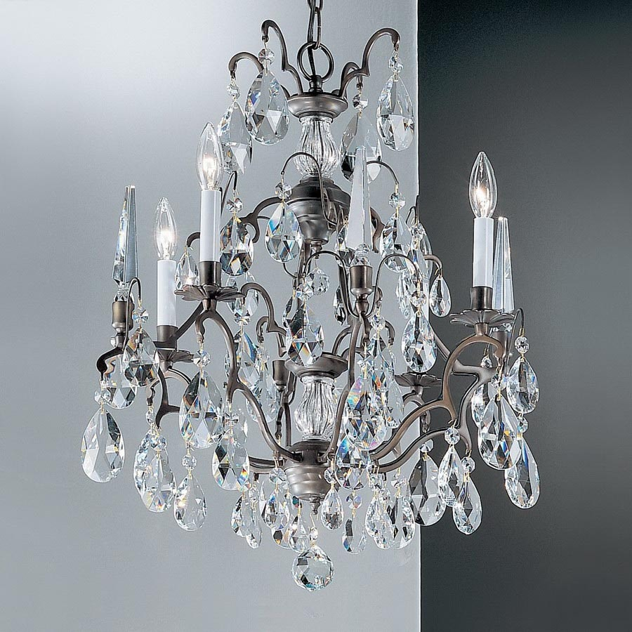 Classic Lighting Versailles 4-Light Antique Bronze Crystal Chandelier - Shop Classic Lighting Versailles 4-Light Antique Bronze Crystal