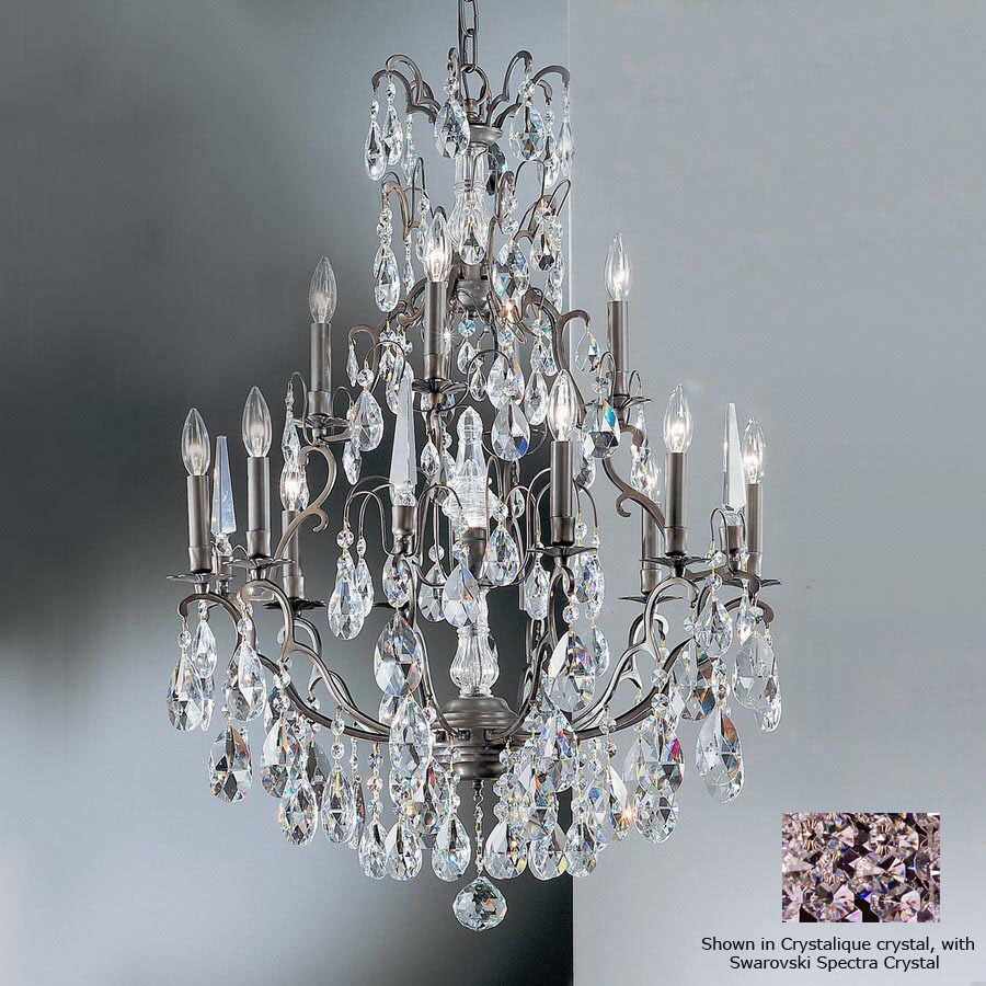 Classic Lighting Versailles 13-Light Antique Bronze Crystal Chandelier - Shop Classic Lighting Versailles 13-Light Antique Bronze Crystal