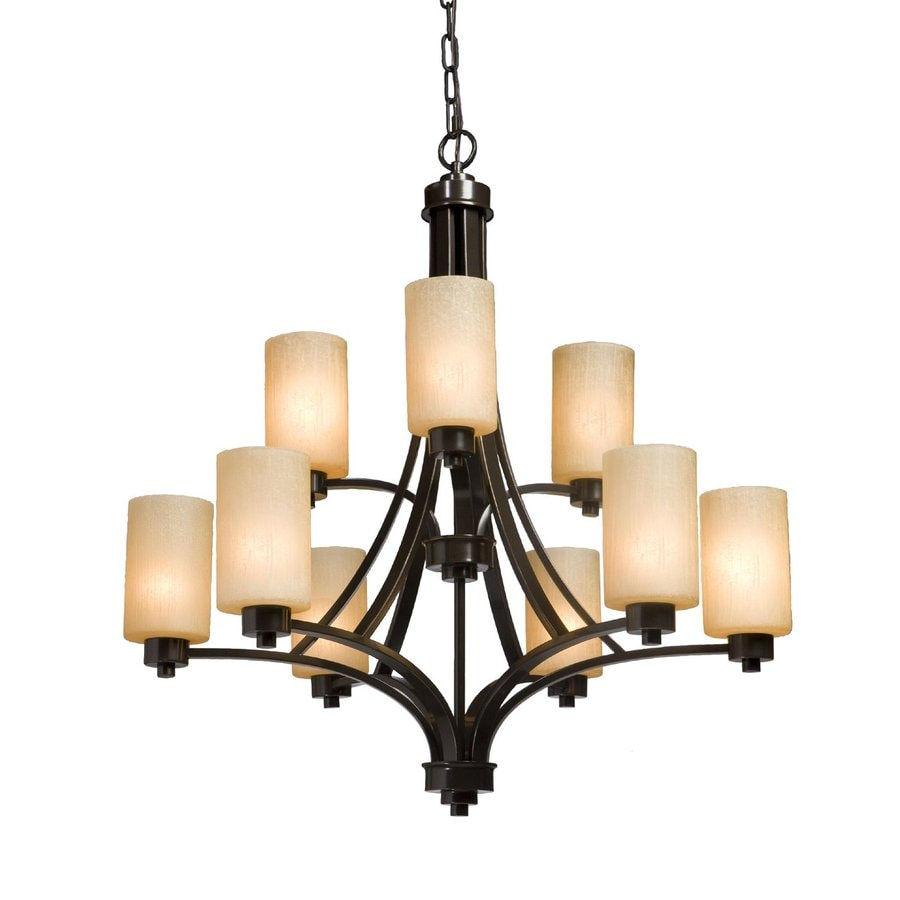 Artcraft Lighting Parkdale 28-in 9-Light Oil-Rubbed Bronze Tiered Chandelier