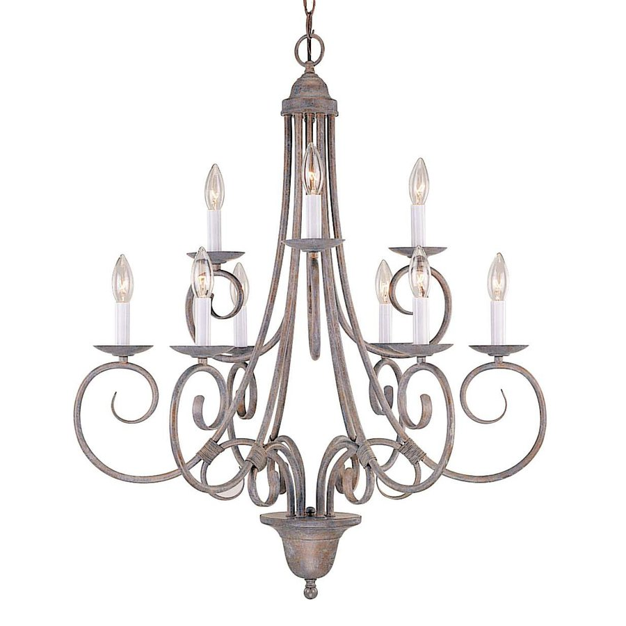 Volume International Troy 9-Light Prairie Rock Chandelier