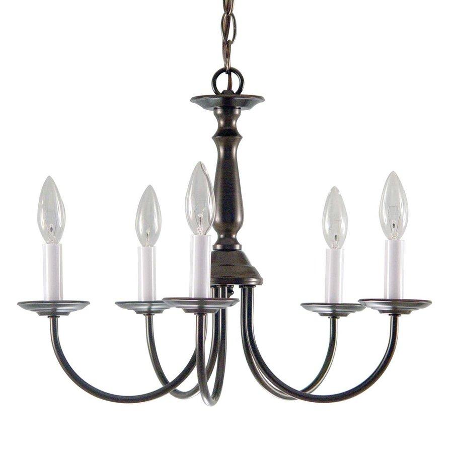 Volume International 18-in 5-Light Antique Bronze Williamsburg Candle Chandelier