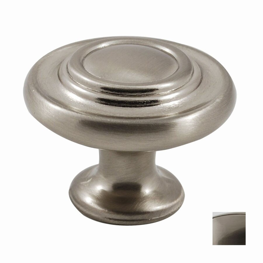 Residential Essentials Satin Nickel Mushroom Cabinet Knob