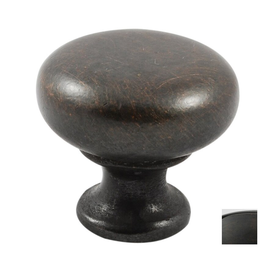 Residential Essentials Venetian Bronze Mushroom Cabinet Knob