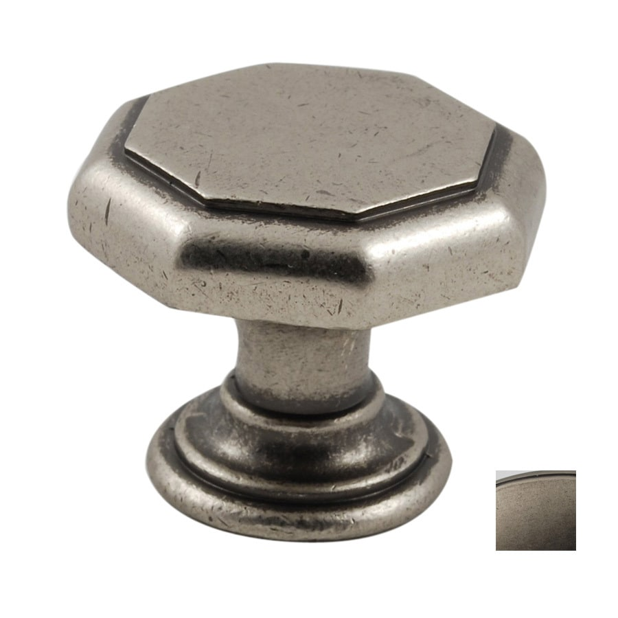 Residential Essentials Aged Pewter Octagonal Cabinet Knob
