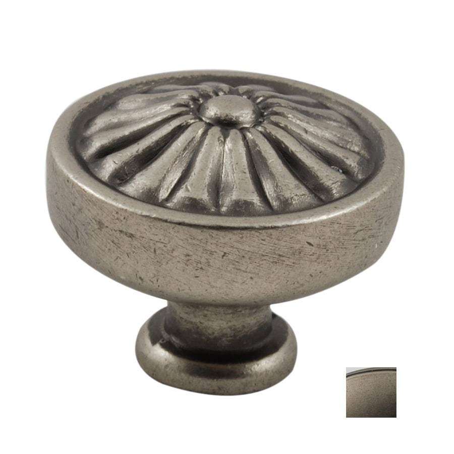 Residential Essentials Aged Pewter Mushroom Cabinet Knob