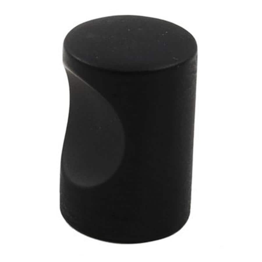 Residential Essentials Black Round Cabinet Knob