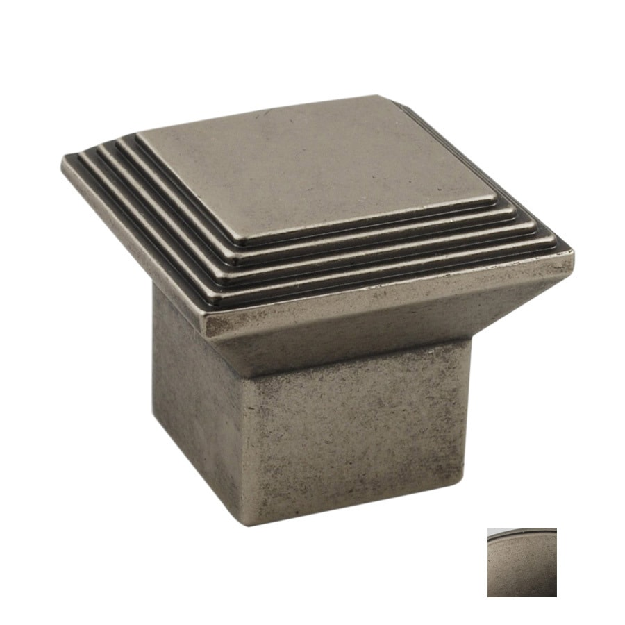 Residential Essentials Residential Essentials Aged Pewter Square Cabinet Knob