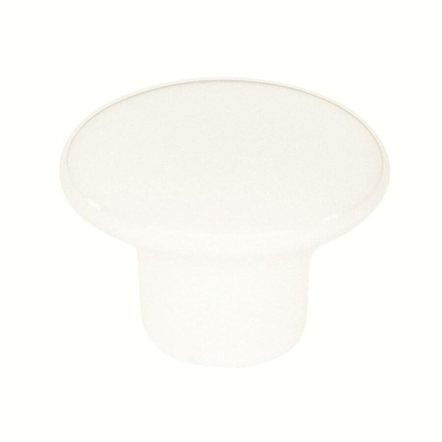 Siro Designs Baton Rouge White Round Cabinet Knob